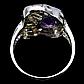 Аметист двухцветный, серебро 925, кольцо, 979КЦА, фото 3