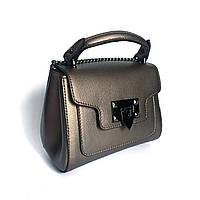 Маленькая сумочка, кожа, Италия, бронза, фото 1