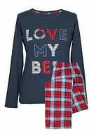 Молодежная женская пижама буквы хлопок р44 50 Muzzy 171003 Польша