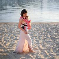 Эрго рюкзак Love & Carry DLIGHT из шарфовой ткани — Флора