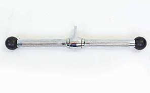 Ручка для тяги на трицепс, бицепс прямая c вращающимся подвесом с насечкой TA-5702, фото 2