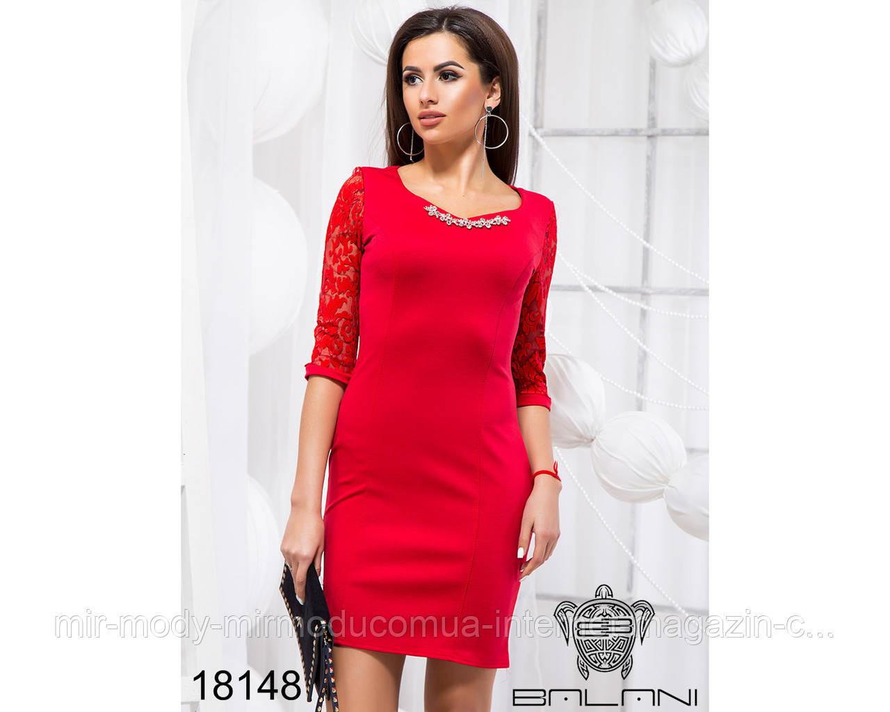 Деловое облегающее платье - 18148 (б-ни)