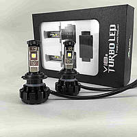 """Автолампа LED H7 V18 Turbo Серия """"S"""", 80W, 10000LM, 6000K, 12-24V (пара)"""