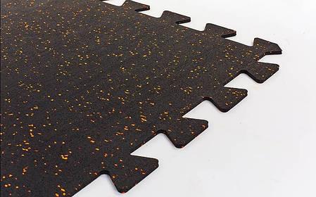 Килимок-пазл під тренажер гумовий 1шт 100x100x0,6см FI-5348-2, фото 2