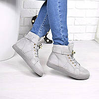 Сникерсы женские Desso серые ЗИМА 3856, ботинки женские