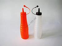 Набор бутылок пластмассовых для соуса из 2-х 22 cm, матовые