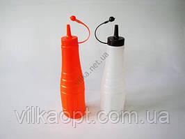 Набір пластмасових пляшок для соусу з 2-х 22 cm, матові