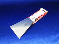 Шпатель нерж+пластм с белой ручкой 25*8см VT6-19331(120шт)