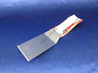 Шпатель нержавеющий с пластмассовой белой ручкой 29 x 8 cm