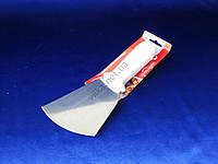Шпатель нержавеющий с пластмассовой белой ручкой 22*8 cm