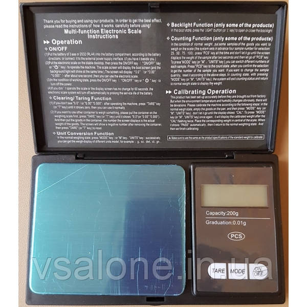 Портативні електронні ваги Digital scale Professional-mini CS-200