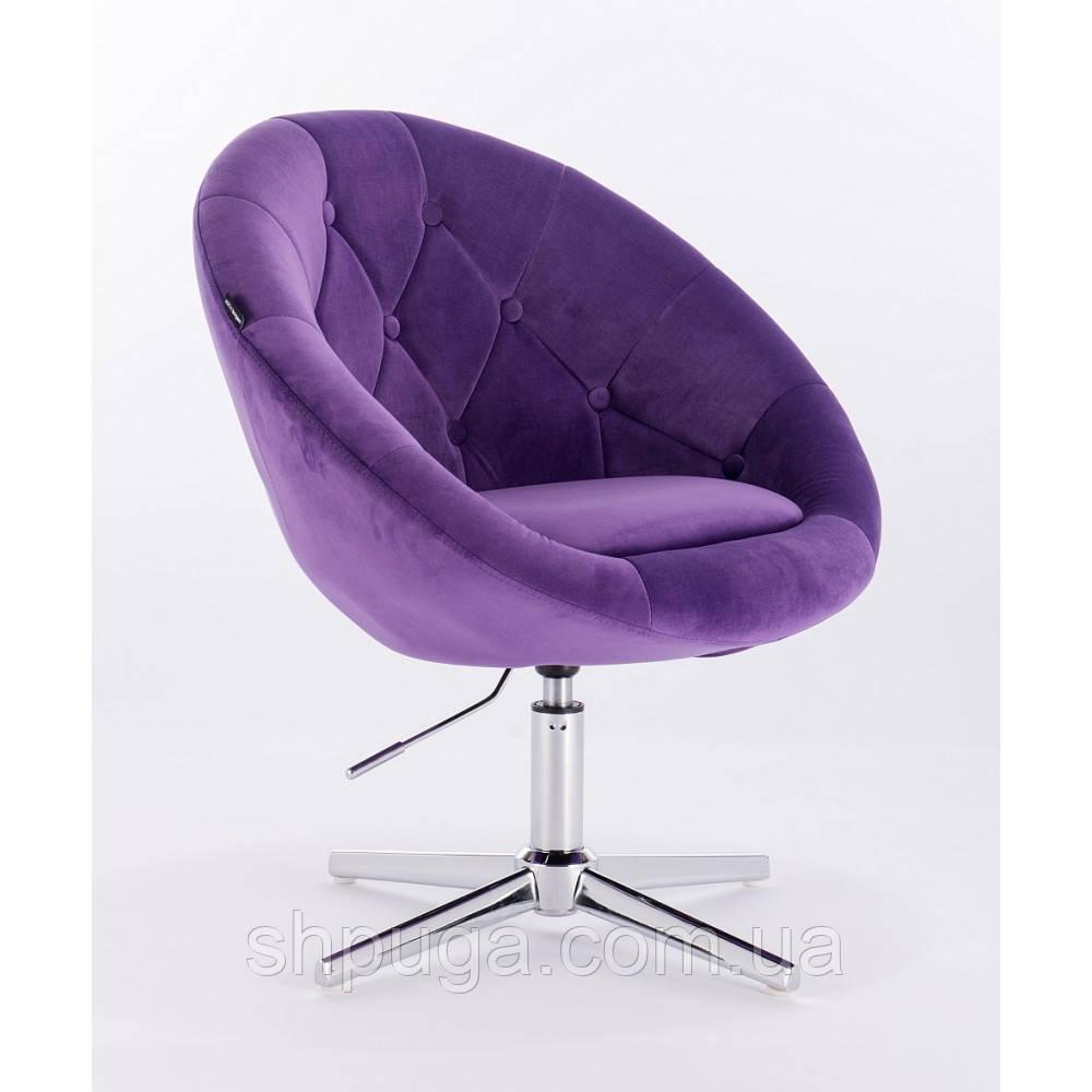 Кресло  HC-8516 фиолетовый велюр