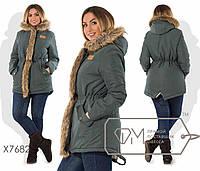 """Стильная женская куртка с капюшоном """"Парка"""""""