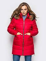 Тепла зимова червона куртка Mirana