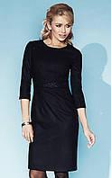 Женское теплое платье черного цвета Adrianna Zaps, коллекция осень-зима.