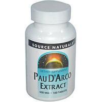 Экстракт Пау Дарко (кора муравьиного дерева) 500 мг 100 таб противовирусное иммуномодулятор Source NaturalsUSA