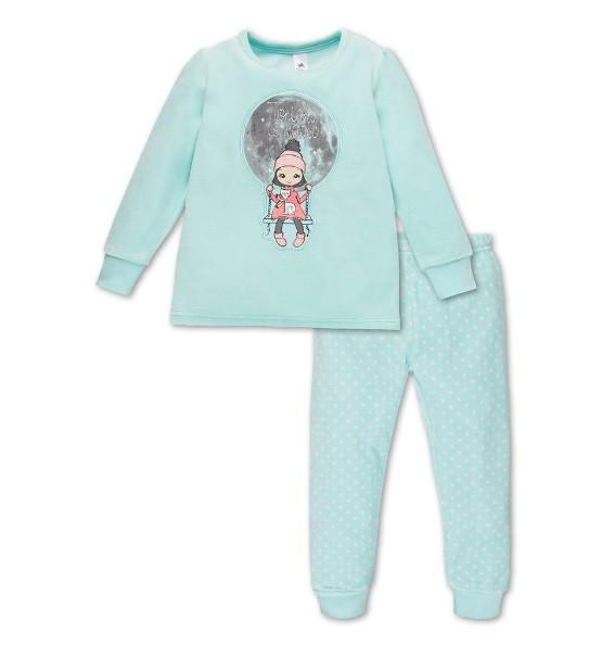 Теплая велюровая пижама на девочку C&A Германия Размер 98-104
