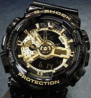 Стильные часы для динамичных мужчин casio g-shock ga-110 black gol