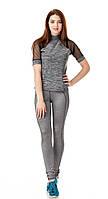 Спортивная женская футболка с сеткой на рукавах. Модель К083_пунтола., фото 1