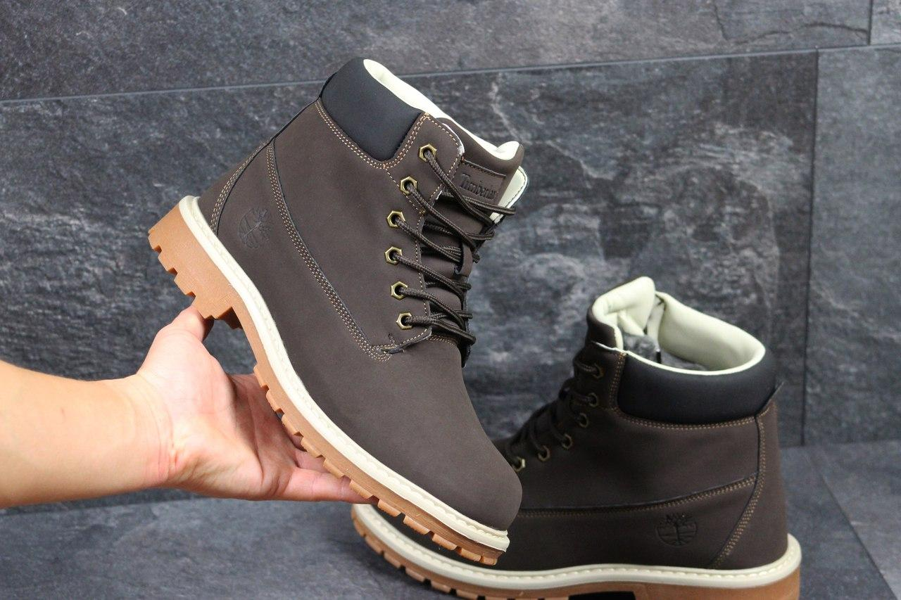 cd8a2e6fe9f3 Я в шоке!™   Мужские зимние ботинки Timberland коричневые 3417. Цена ...
