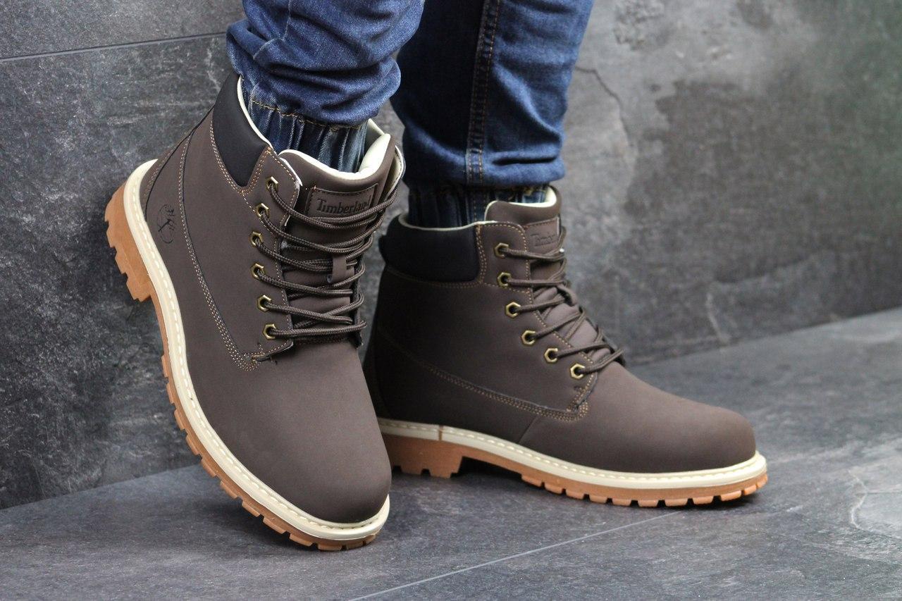 Я в шоке!™   Мужские зимние ботинки Timberland коричневые 3417. Цена ... 24d6b30771e