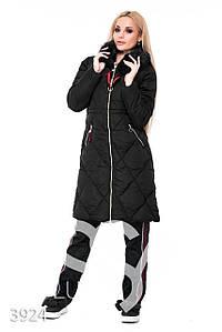 Ledi M Женская длинная куртка IS 3924 черный Леди М