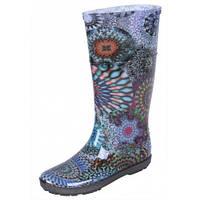 12-14 Темно-синие цветочные женские резиновые сапоги NDC-142778