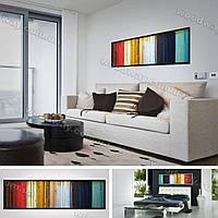 Деревянное дизайнерское разноцветное панно