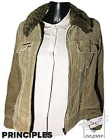 Демисезонная вельветовая женская куртка Principles бежевая