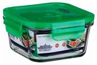Емкость Peterhof  для продуктов 0,4л с крыш. кв. зеленая