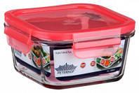 Емкость Peterhof  для продуктов 0,4л с крыш. кв. красная