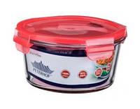 Емкость Peterhof  для продуктов 0,75л с крыш. красная