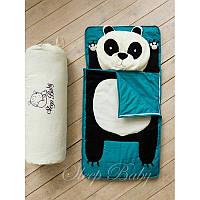 Спальный плед-конверт Панда детям (размеры любые), фото 1
