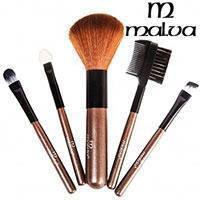 Malva Набор кистей для макияжа M-301 (5шт) в прозрачном чехле