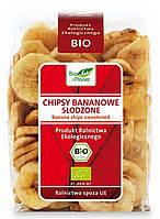Органические чипсы банановые с сахаром, Bio Planet,150 гр