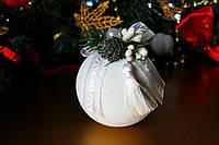Шарик новогодний бархатный