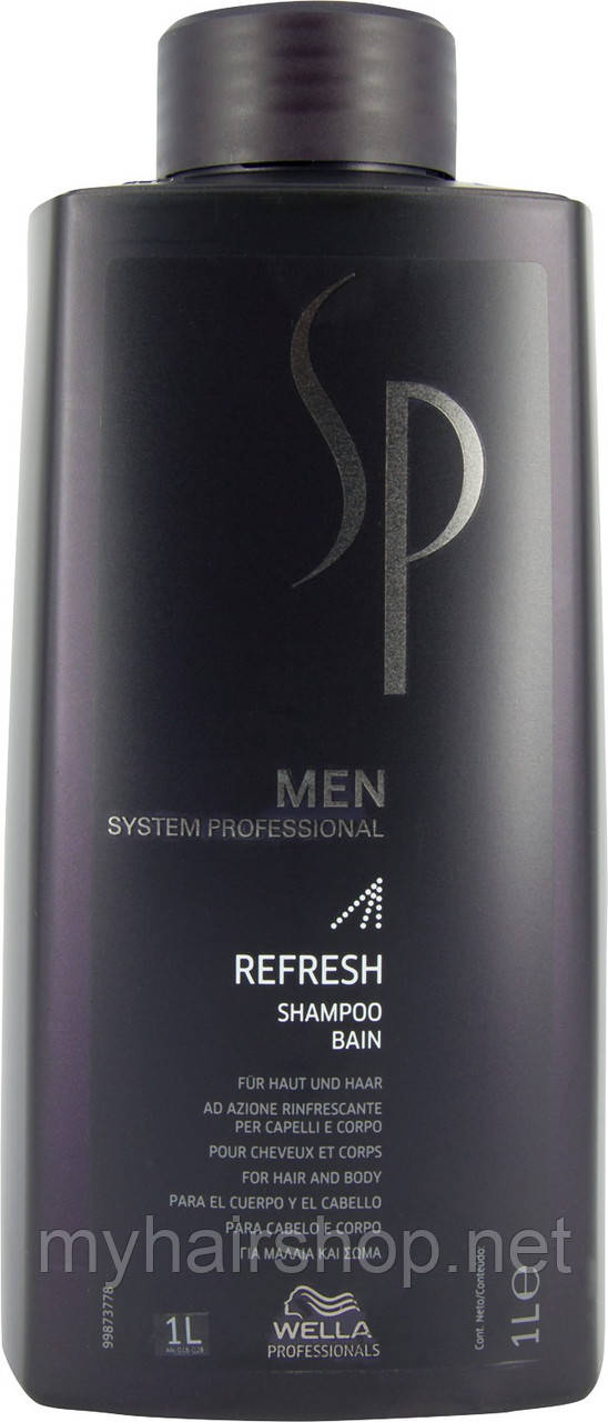 Шампунь освежающий  Wella SP Men Refresh Shampoo 1000 мл