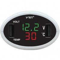 Часы автомобильные электронные ВАЗ-2106-07 с термометром  Тайвань
