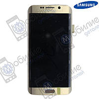 Дисплей Samsung S6 Edge (модуль экран + тачскрин) G925 Gold