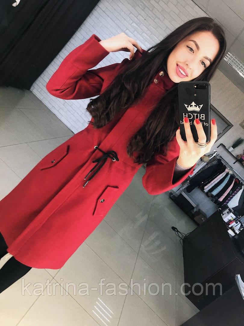"""Женское стильное шерстяное пальто-парка с капюшоном """"Алекс"""" (3 цвета)"""