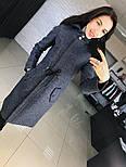 """Женское стильное шерстяное пальто-парка с капюшоном """"Алекс"""" (3 цвета), фото 5"""
