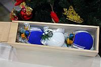 Подарочный набор новогодних бархатных шариков