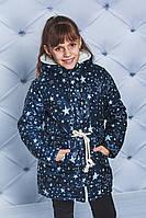 Парка зимняя для девочки Звезды