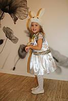 Детский новогодний карнавальный костюм зайки белый