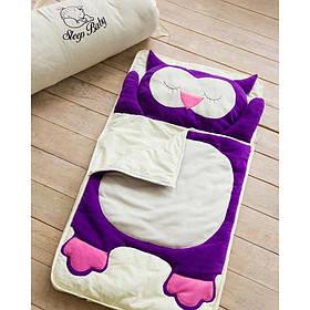 Хлопковый спальный плед-конверт Сова детский (размеры от 120 до 200см)