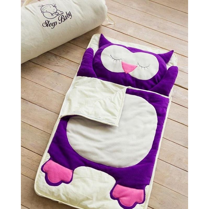 Хлопковый спальный плед-конверт Сова детский (размеры от 120 до 200см), фото 1