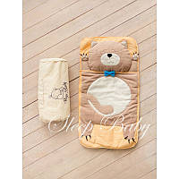 Спальный плед-конверт Котик для детей (есть размеры)