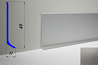 Дизайнерский алюминиевый плинтус BLW-31 40 мм, Серебро