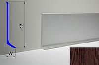 Дизайнерский алюминиевый плинтус BLW-31 60 мм, Венге светлый
