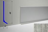 Дизайнерский алюминиевый плинтус BLW-31 60 мм, Дуб дымчатый